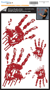 bloody handprints wall decals for halloween wallwall bloody handprints wall decals for halloween