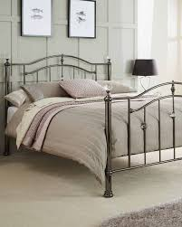 Ashley Bed Frames by Silver Metal Bed Frame Black Nickel Finish With Crystal Finals