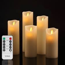 amazon com vinkor flameless candles flickering flameless candles