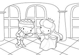 coloriage roi et reine