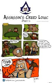 Creed Meme - assassins creed iii logic part 1 hunting by jonaszimmerart meme