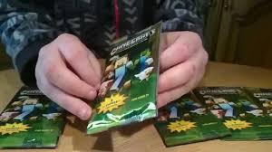 minecraft cards minecraft sticker card pack opening