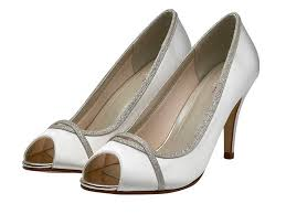 Wedding Shoes Rainbow Rainbow Club Chelsey Silver Shimmer Peep Toe Wedding Shoes
