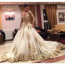 gold wedding dress gold wedding dresses gown sleeve appliques india