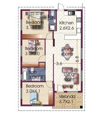 design floor plans for free 3 bedroom house design in philippines
