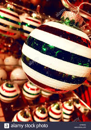 and green striped tree ornaments on sale in