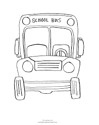 bus coloring page coloring pages gallery