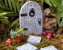 Celtic Garden Decor Fairy Door Fairy Garden Kit Fairy Garden Doorcomplete Fairy