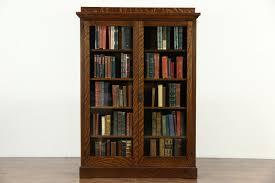 Arts Crafts Bookcase Sold Arts U0026 Crafts Mission Oak 1900 Antique Craftsman Library