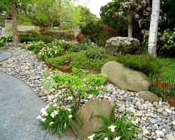 design of river rock landscaping ideas river rock dry creek bed
