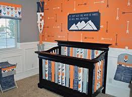 Orange Crib Bedding Sets A Fox And Arrow Themed Baby Nursery