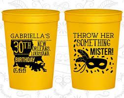 mardi gras throw cups mardi gras cups etsy