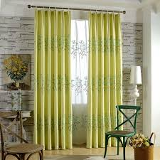 Curtains For Yellow Living Room Decor Yellow Embroidery Blackout Curtain For Living Room