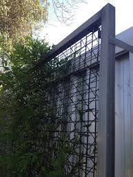 archbar with steel shs frame utilised as a trellis collier
