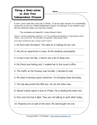 semicolon worksheets free worksheets library download and print