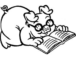 pig coloring book coloring book