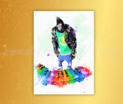 sing movie johnny watercolor poster johnny a teenage gorilla