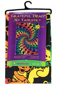 Grateful Dead Curtains Grateful Dead Dancing Bears Spiral Tapestry 60x90