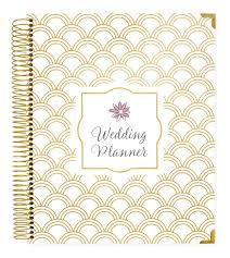 planner wedding wedding planner gold scallops bloom daily planners