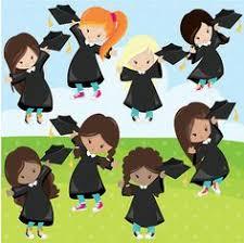 graduation boys and girls digital clipart set black preschool