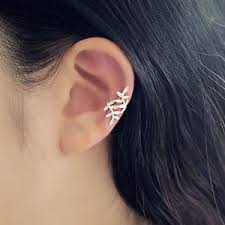 cartilage cuff earrings 1 pc clip on earrings cartilage leaf cuff wrap non piercing