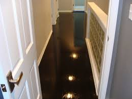 high gloss wood floors modern hallway landing kansas