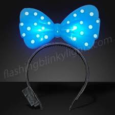 light up bow tie blue light up bow headband bongo flashers