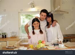 family having breakfast kitchen stock photo 48295384 shutterstock