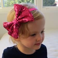 sparkly hair pink glitter hair bow big pink hair bow glitter bow headband pink