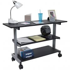 desk with shelves on side side desk shelves bookcase on wheels desk shelves desks and shelves