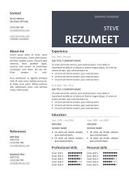 free resume layout templates peckham free resume cv template rezumeet com