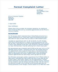 Complaints Letter To Hospital 30 complaint letter exles sles pdf doc
