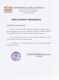Certification Letter For Employment Sle Certification Of Employment Letter For Caregiver 28 Images Iso
