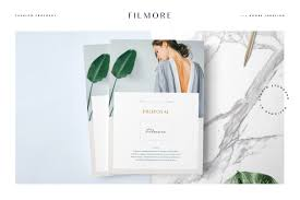 filmore fashion proposal brochure templates creative market