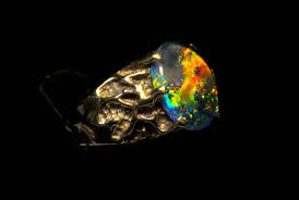 matrix opal ring men u0027s opal ring spectacular genuine australian opal ring