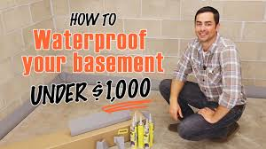 how to waterproof a basement diy squidgee dry system youtube