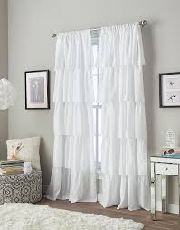 Grey Shabby Chic Curtains by Interior Window Accessories Exciting White Ruffle Curtains