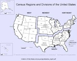 United States Region Map by Geography Atlas Regions Geography Us Census Bureau The Us