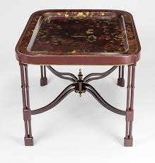 Victorian Coffee Table by Antique Victorian Papier Mache Tray On Stand