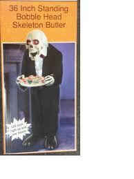 motorized halloween props amazon com 3ft bobble head skeleton butler halloween prop jaw