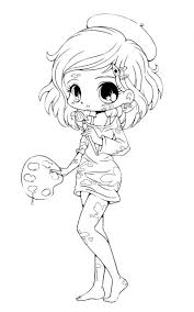 cute chibi coloring pages coloring page for kids kids coloring