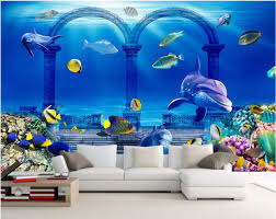 compare prices on wall murals ocean online shopping buy low price 3d wallpaper custom mural ocean underwater palace wall papers home decoration painting 3d wall murals wallpaper