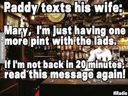 Memes Jokes - paddy texts his wife joke meme