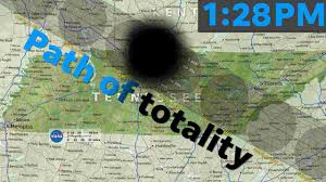 Utk Map Solar Eclipse 2017 Map The Path Of Totality Through Tennessee