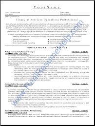 model resumes free download resume format for operations profile free resume example and resume examples resume sample financial services operations professional need help writing a