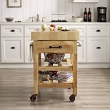 wood kitchen island cart crosley marston island kitchen cart with wood top reviews wayfair