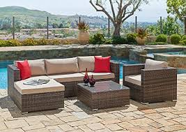 Outdoor Waterproof Furniture by Review Suncrown Outdoor Furniture Sectional Sofa U0026 Chair 6 Piece