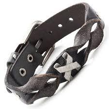 braided leather cuff bracelet images 18 best men 39 s rock bracelets images men 39 s leather jpg