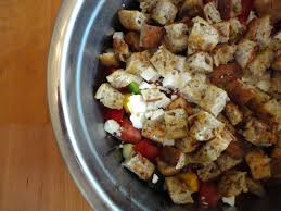 how to healthy lunch greek panzanella salad how to eat
