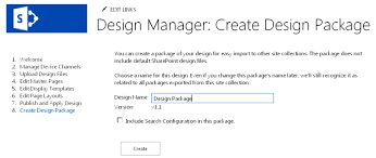 sharepoint design manager design packages microsoft docs